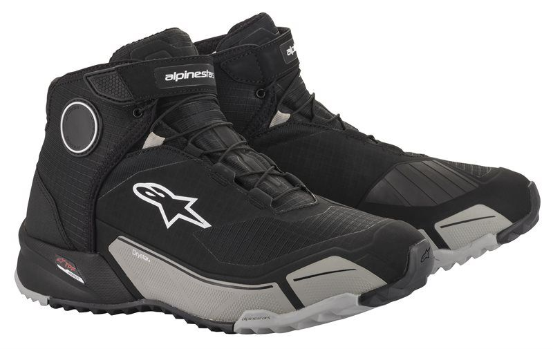 ALPINESTARS CR-X DRYSTAR RIDING SHOES - BLACK COOL GREY