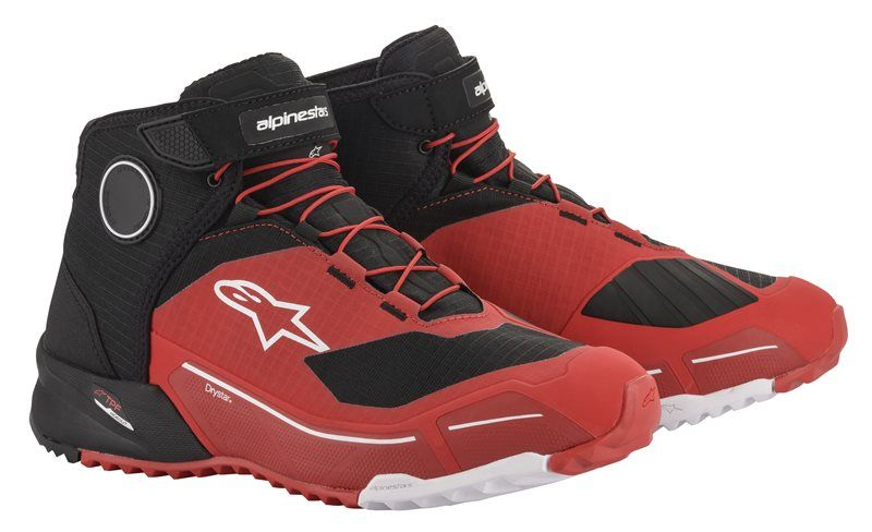 ALPINESTARS CR-X DRYSTAR RIDING SHOES - BLACK RED