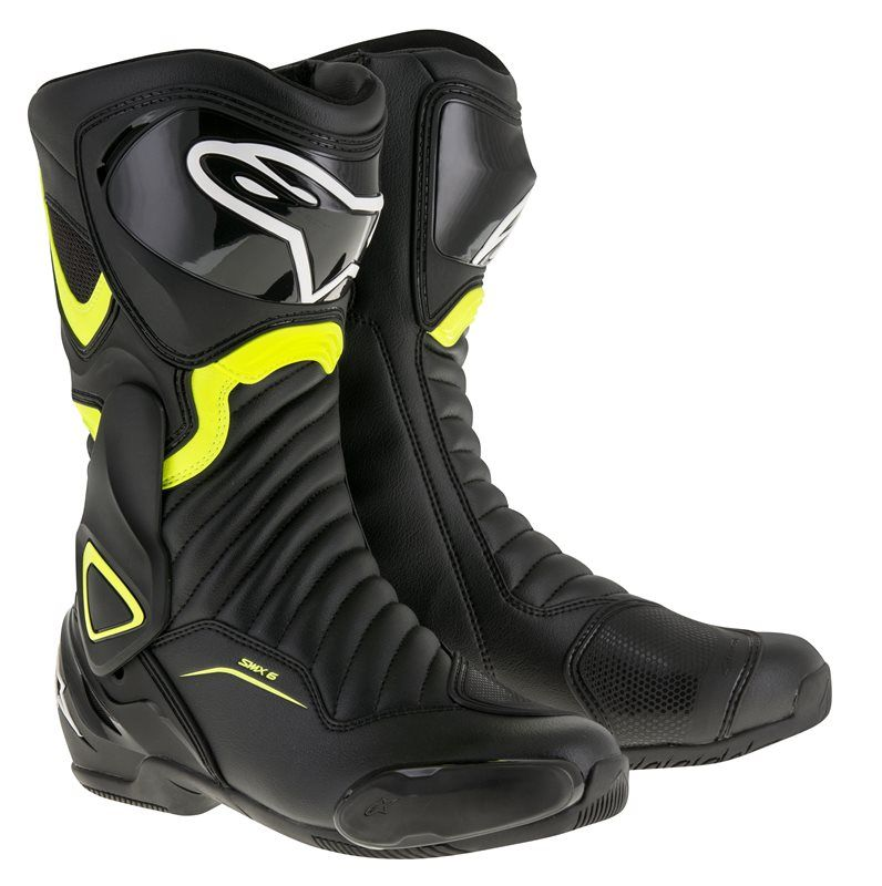ALPINESTARS SMX-6 V2 BOOTS - BLACK YELLOW FLUO