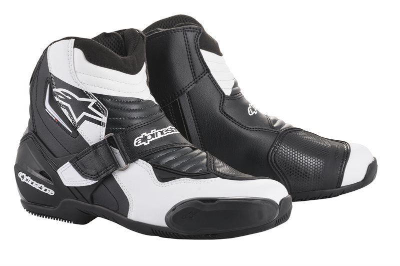ALPINESTARS SMX-1 R BOOTS - BLACK WHITE GRAPHIC