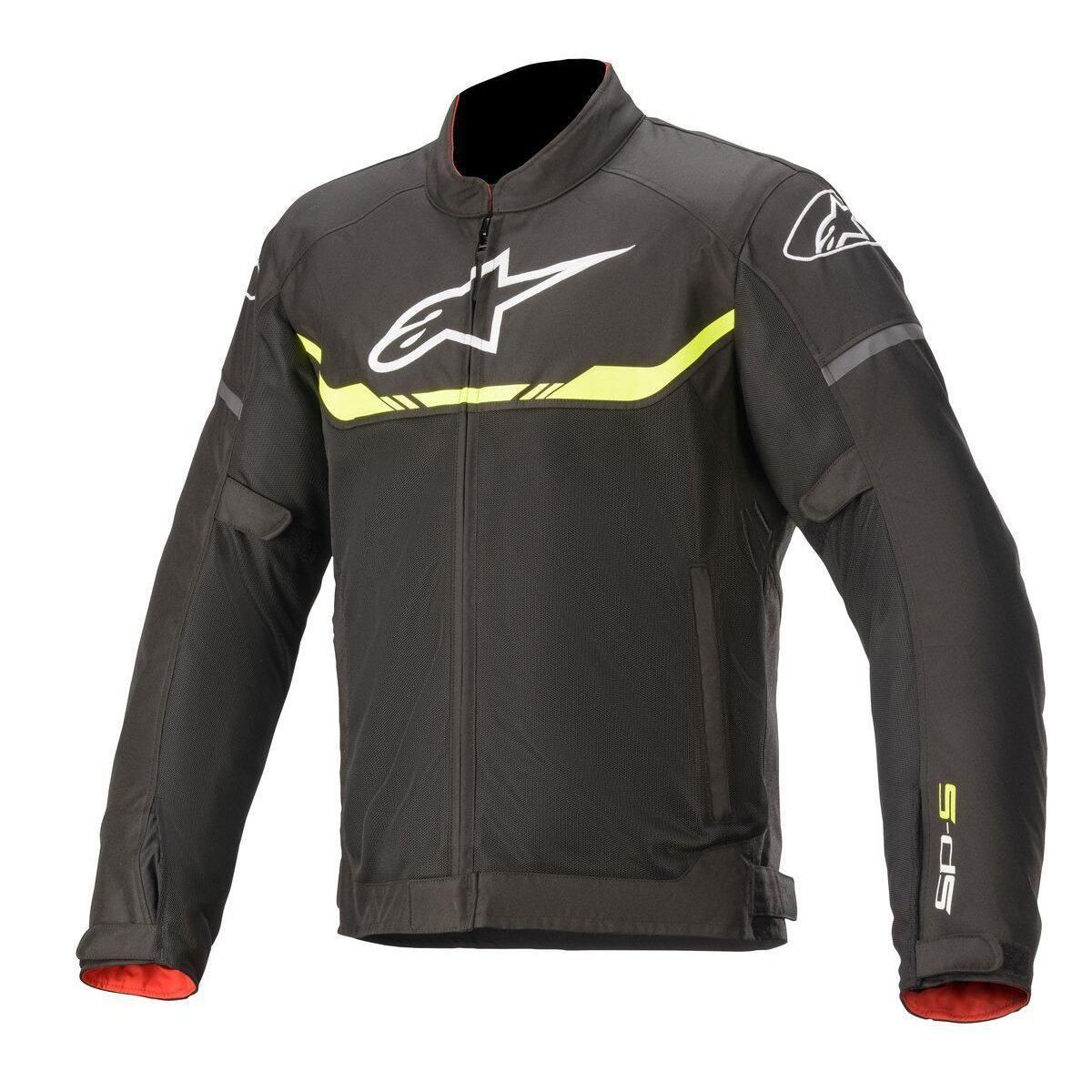 ALPINESTARS T-SP S AIR JACKET - BLACK YELLOW FLUO