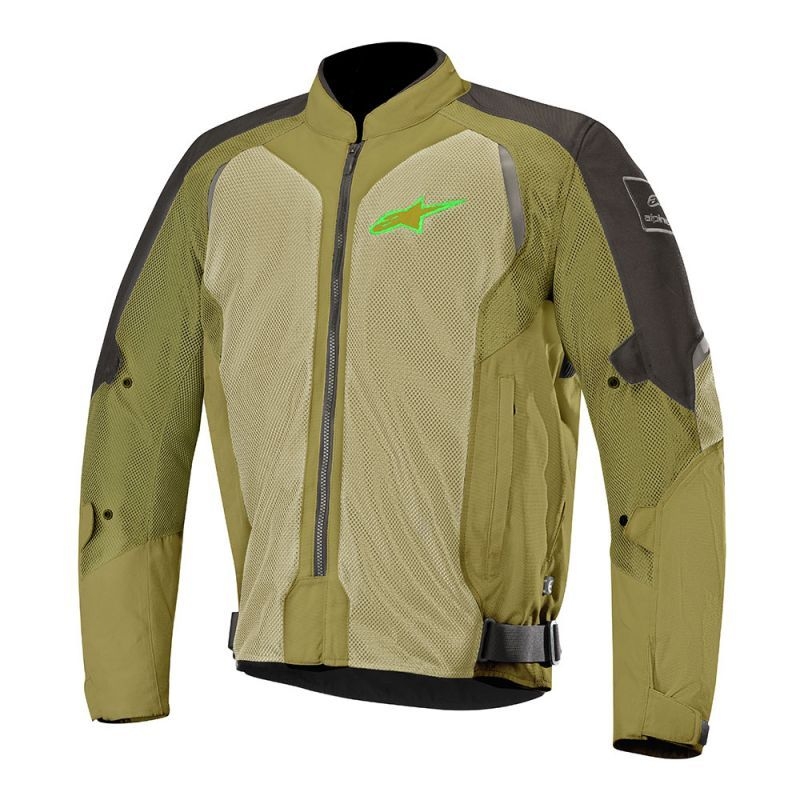 ALPINESTARS WAKE AIR JACKET - BLACK OLIVE GREEN FL